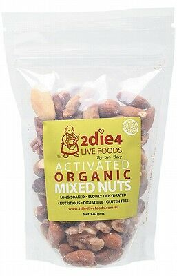 3 X 2DIE4 LIVE FOODS Activated Organic Mixed Nuts - 120g
