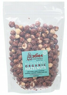 3 X 2DIE4 LIVE FOODS Activated Organic Hazelnuts - 300g