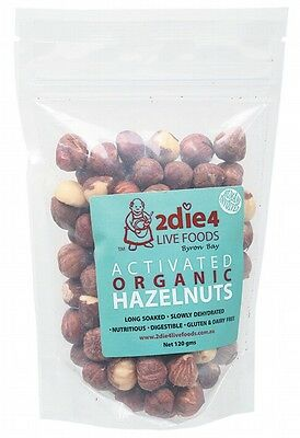 3 X 2DIE4 LIVE FOODS Activated Organic Hazelnuts - 120g