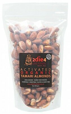 3 X 2DIE4 LIVE FOODS Activated Organic Tamari Almonds - 300g