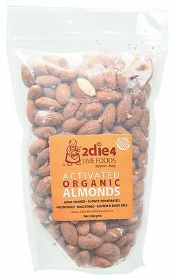 3 X 2DIE4 LIVE FOODS Activated Organic Almonds - 300g