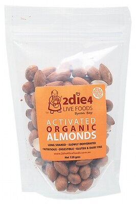 3 X 2DIE4 LIVE FOODS Activated Organic Almonds - 120g