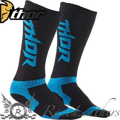 Thor Motocross Mx Enduro Motorcycle Motorbike Dirt Bike Socks Blue Black