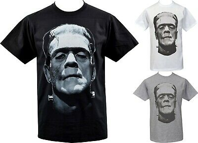 Mens T-Shirt Frankenstein Monster Boris Karloff Vintage Horror Goth Halloween