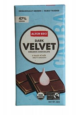 3 X ALTER ECO Dark Velvet 80g - Organic Chocolate