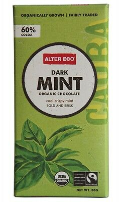 3 X ALTER ECO Dark Mint 80g - Organic Chocolate