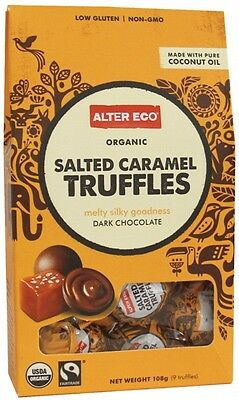 3 X ALTER ECO Chocolate (Organic) Salted Caramel Truffles - Dark Chocolate 108g