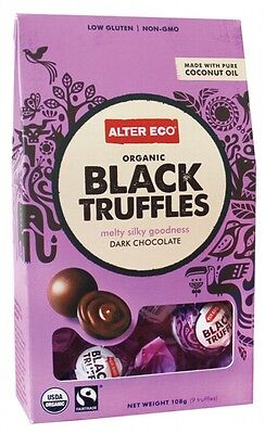 3 X ALTER ECO Chocolate (Organic) Black Truffles - Dark Chocolate 108g