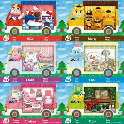Animal Crossing: New Leaf - all 6 complete Sanrio sets. DIGITAL ONLY. READ DISC.