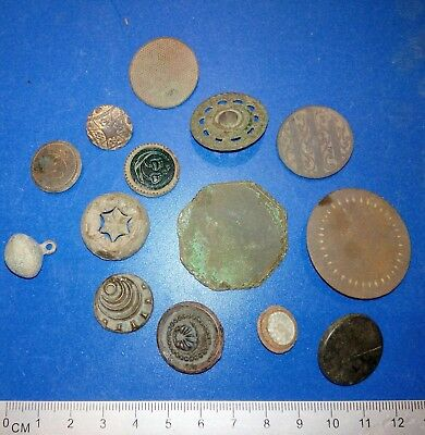 Lot old brass buttons of the 19-20th century