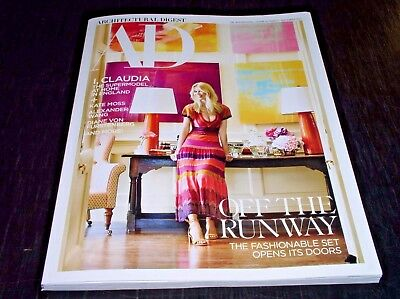 September 2017 ARCHITECTURAL DIGEST Magazine CLAUDIA SCHIFFER,KATE MOSS +MORE+