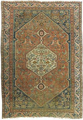 "Antique Persian Bijar rug. 4'7""x 6'7"""