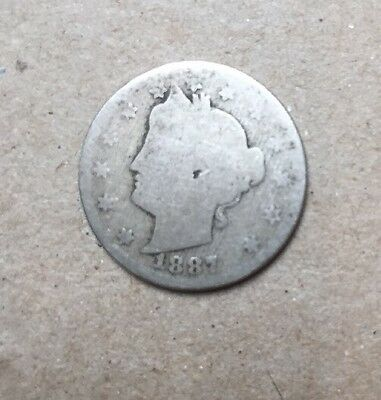 1887 V Nickel Early Date