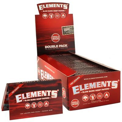 Elements Red Single Wide 1.0 Ultra Thin Cigarette Rolling Papers
