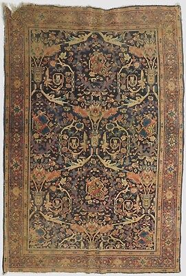 "Antique Persian Tabriz Rug. 4'6""x 6'6"""
