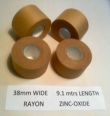 Premium Rigid Sports Strapping Tape  4 rolls of 38mm  Excellent Value at $19.50