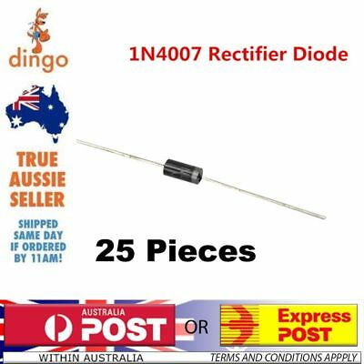 25 Pieces Original 1N4007 1000V 1A RECTIFIER DIODE Melbourne Victoria