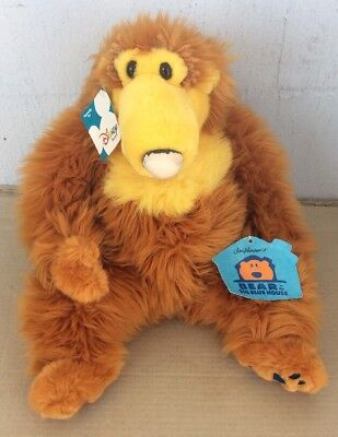 "Disney Store Jim Henson Bear In The Big Blue House 13"" Stuffed Plush SEE PICS"