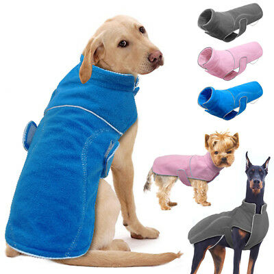 Winter Dog Clothes Large Small French Bulldog Fleece Jacket Pet Coat Clothing