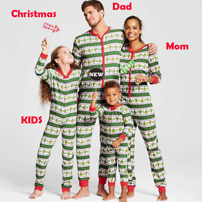 UK Family Matching Christmas Pajamas Set Women Kid Adult PJs Sleepwear Nightwear