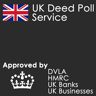 UK Name Changing Service ~ Genuine Legal Deed Poll ~ Be Whoever You Want To Be