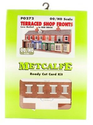 Metcalfe P0272 Oo/ho Low Relief Red Brick Terraced Shop Fronts Kit New In Box
