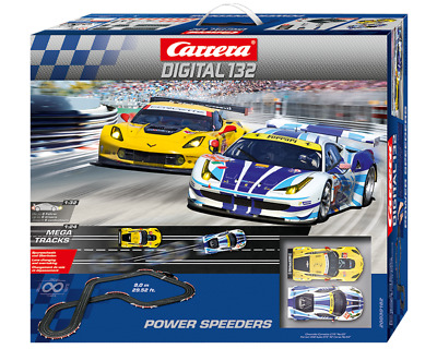 Carrera Digital 1/32 Power Speeders Ferrari And Corvette