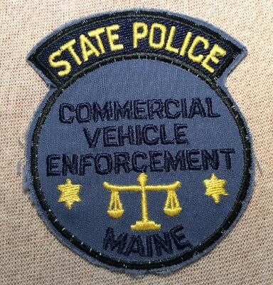 ME Maine State Police Commercial Vehicle Enforcement Patch
