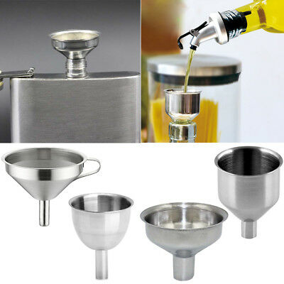 Stainless Steel Wine Coffee Liquid Oil Filter Funnel Mini Hopper Kitchen Tools