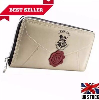 Official Harry Potter Letter Cream Coin & Zip Around Purse For Women Gift Wallet