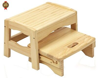 Safety 1st Wooden 2 Step Stool (Natural) NEW