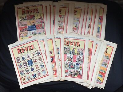 The Complete Year Of Original 1950 The Rover Comics Nos 1280-1331