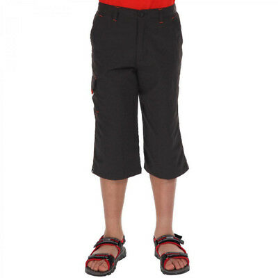 Regatta Girls Sorcer Vintage Wash Cotton Capris Trousers