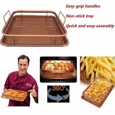 Gotham Steel Copper Crisper Tray - AIR FRY IN YOUR OVEN - As Seen on TV new JG