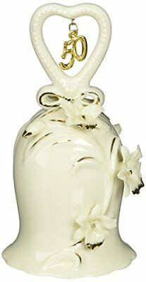 Appletree Design 50th Anniversary Ivory Orchid Bell, 5-Inch Tall, Includes