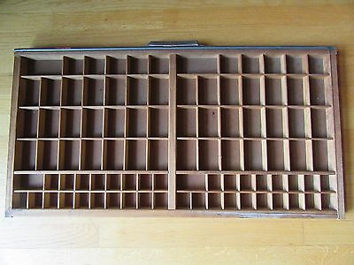 Vintage Hamilton Wood Printing Block/letterpress Drawer/shadow Box/tray/17Hx32W!
