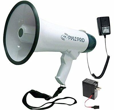 Pyle Bullhorn Megaphone with Built-in Rechargeable Battery [Portable PA
