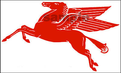 "Mobil Gas Oil Decal 5""  Pegasus Horse Left Facing"
