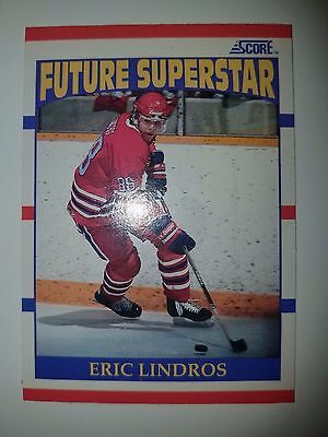 1990-91 Score #440 Eric Lindros RC Rookie Card NM Philadelphia Flyers