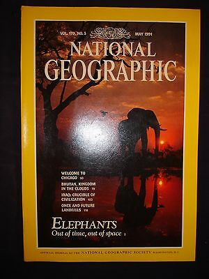 National Geographic May 1991  - Elephants