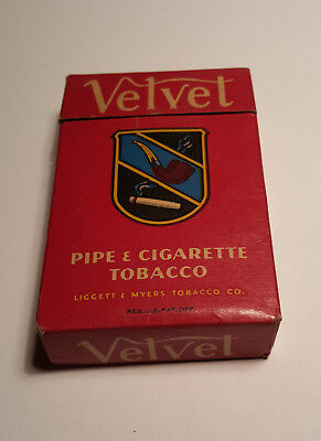 VINTAGE Velvet Pipe and Cigarette Tobacco