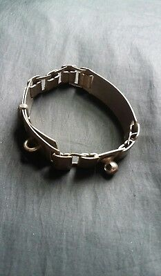 Antique Victorian Rare Metal Pulling Small Dog Or Small Animal Collar