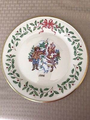 Lenox 1996 Annual Holiday Collectors Plate