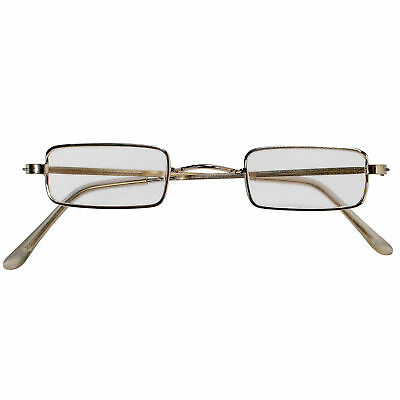 Forum Cosplay Santa Claus Square Frame Eye Costume Glasses, Gold, One-Size