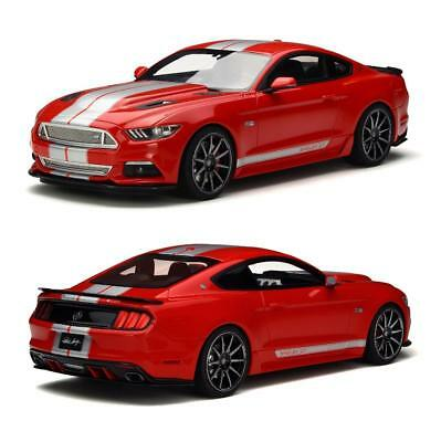 Gt Spirit 2015 Ford Shelby Mustang Gt Red / Silver 1:18 Scale Model Gt149