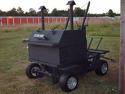 Barbecue Pit Trailer Custom Made Heavy Duty 1978