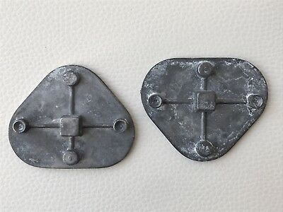 2x Dental metal mounting plates for Whip Mix Articulator