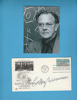 Jeffrey Wilkinson (Nobel Prize Chemistry 1973) Signed Natioal Academy Science
