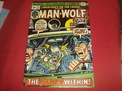 CREATURES ON THE LOOSE - MAN-WOLF #31 Marvel Comics 1974  VF