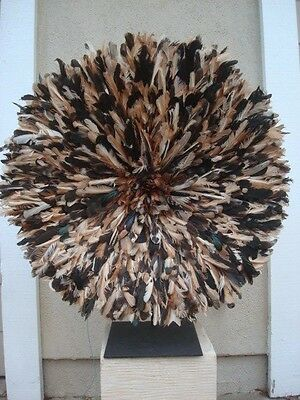 "30"" Natural  / African Feather Headdress / Juju Hat / 1st. Quality"